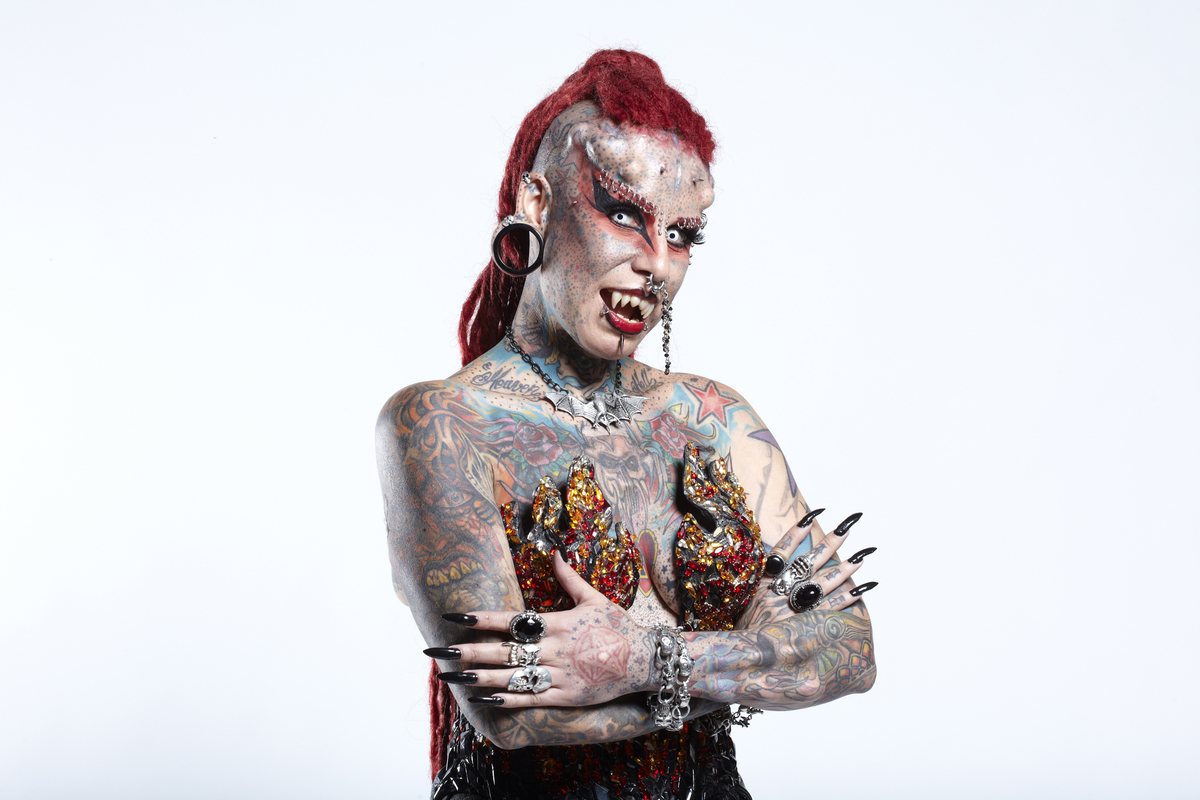 Meet The Vampire Lady Woman With The Most Tattoos World